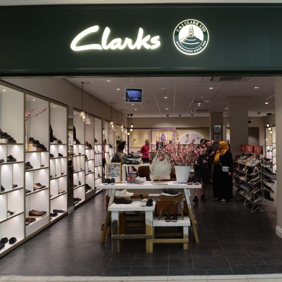 Clarks shop front