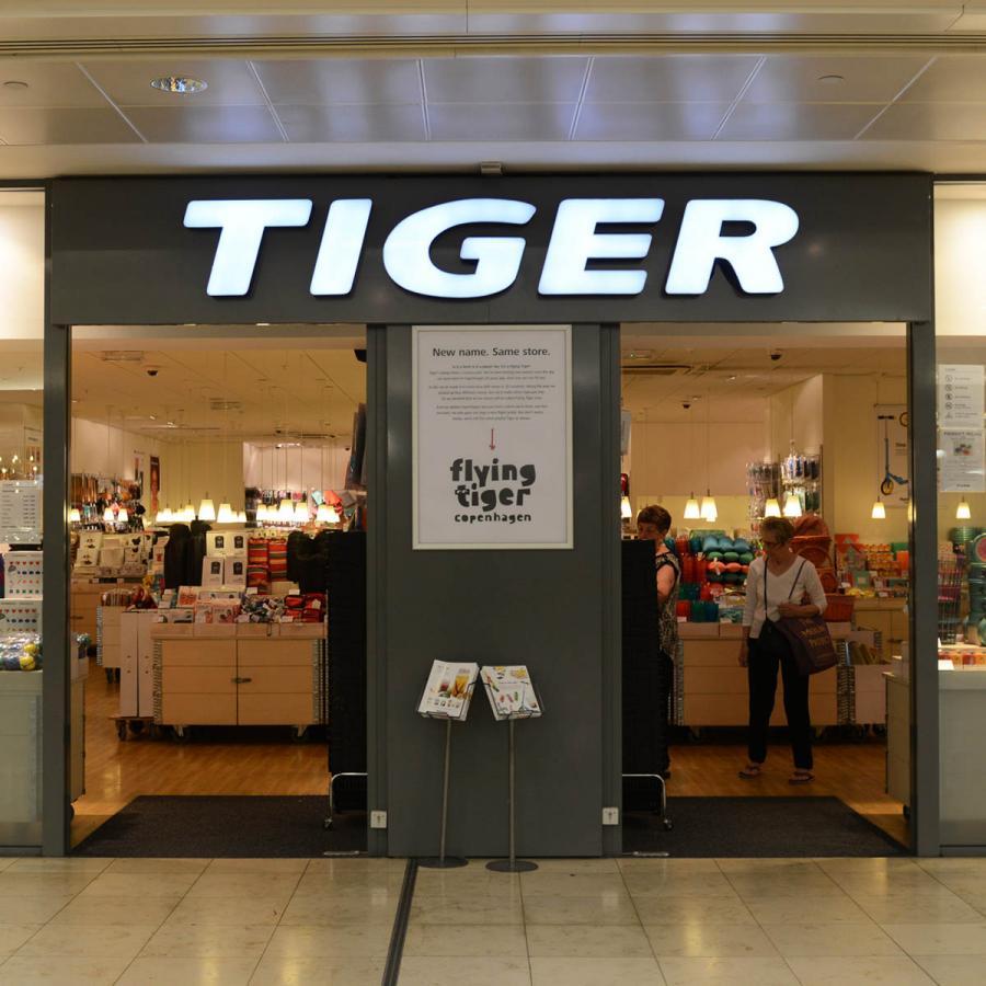 Tiger shop front