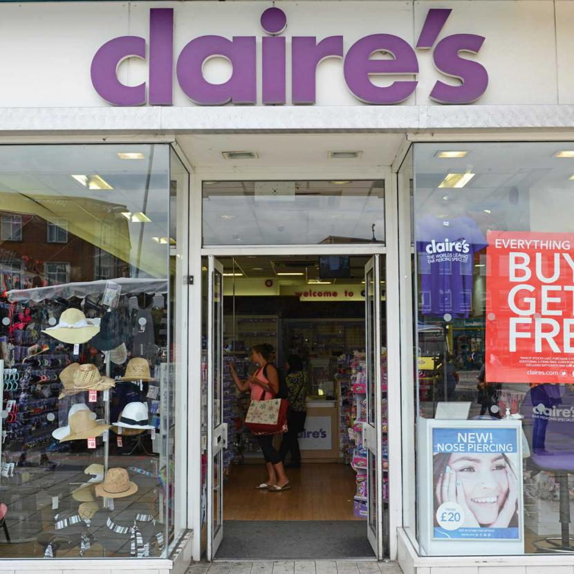 Claire's shop front