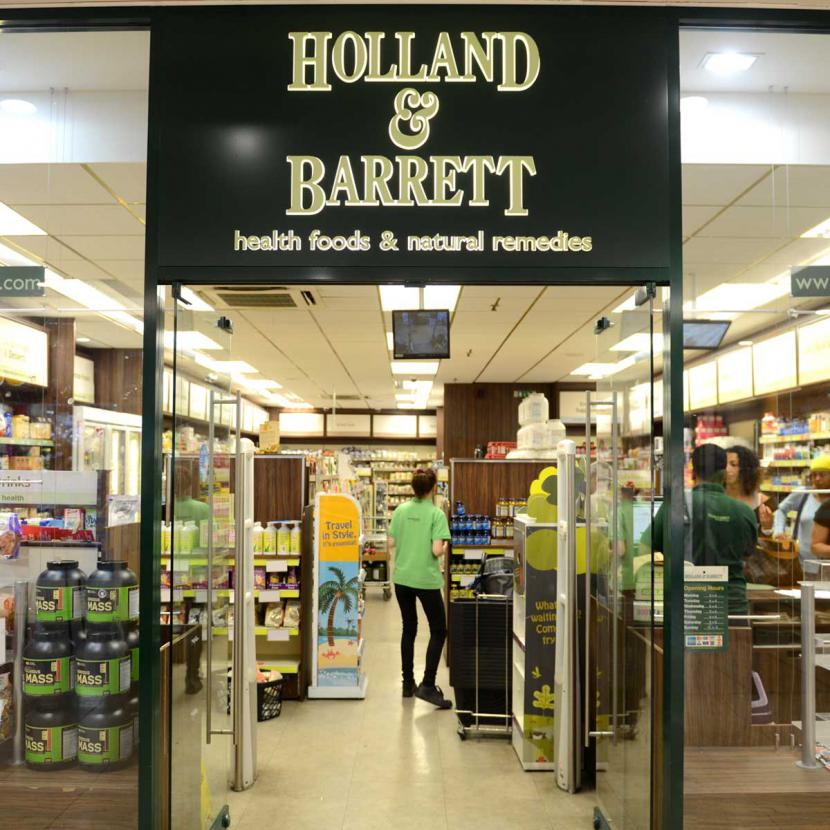 Holland and Barrett Shop Front