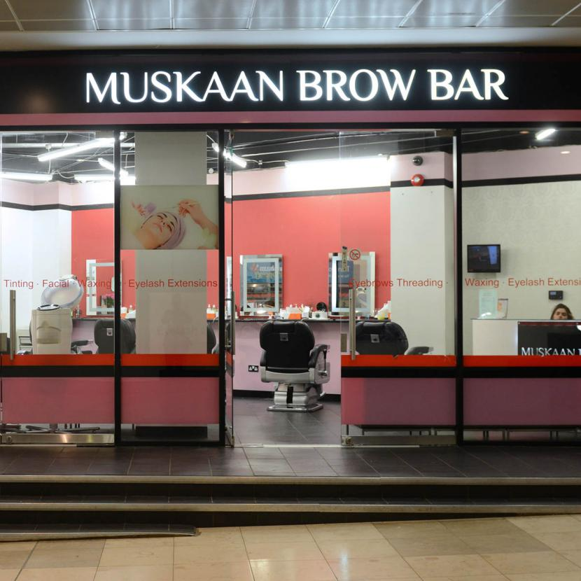 Muskaan Brow Bar Shop Front