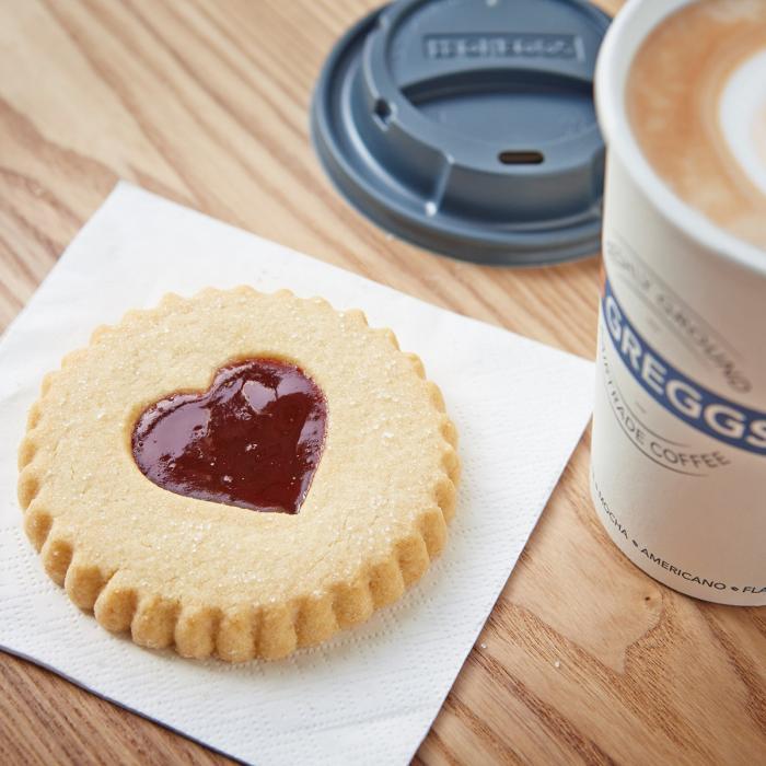 Greggs Heart Biscuit