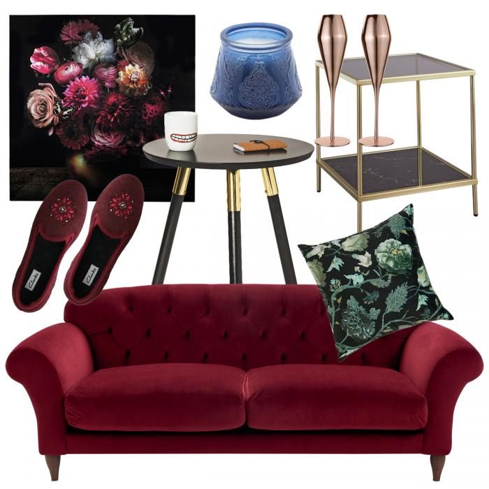 AW18 interiors trend midnight opulence