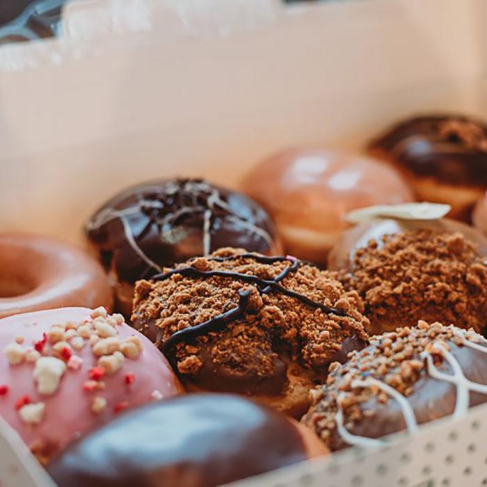 Doughnuts at Krispy Kreme