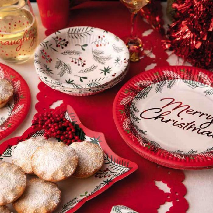 Christmas Poundland paper plates