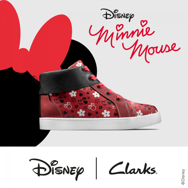 Inspired by the bold, retro silhouettes of Disney's Minnie and Mickey, City Mouse gives a nostalgic nod to the 1970s. Combining fun, fashion and Clarks' comfort promise, City Mouse has a super-flexible outsole for all day play.  Plan your visit to Clarks