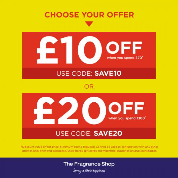 Save up to £20 at The Fragrance Shop