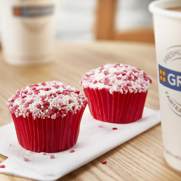 Greggs Valentine Cake