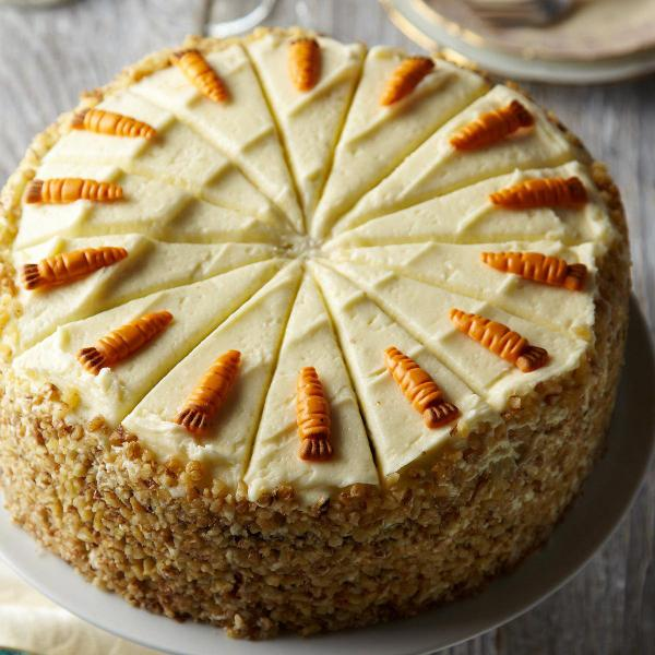 Carrot cake at Marks and Spencer Cafe